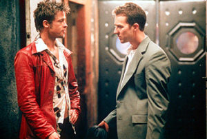 Brad and Edward in Fight Club