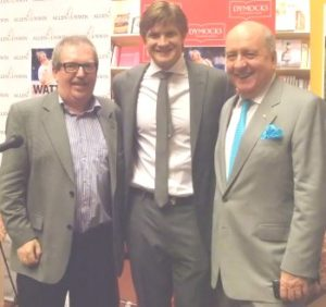 Me with Watto and broadcaster Alan Jones at the launch in Dymocks, Sydney